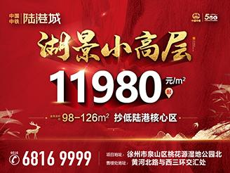 中国中铁陆港城 湖景小高层 11980元/㎡起!
